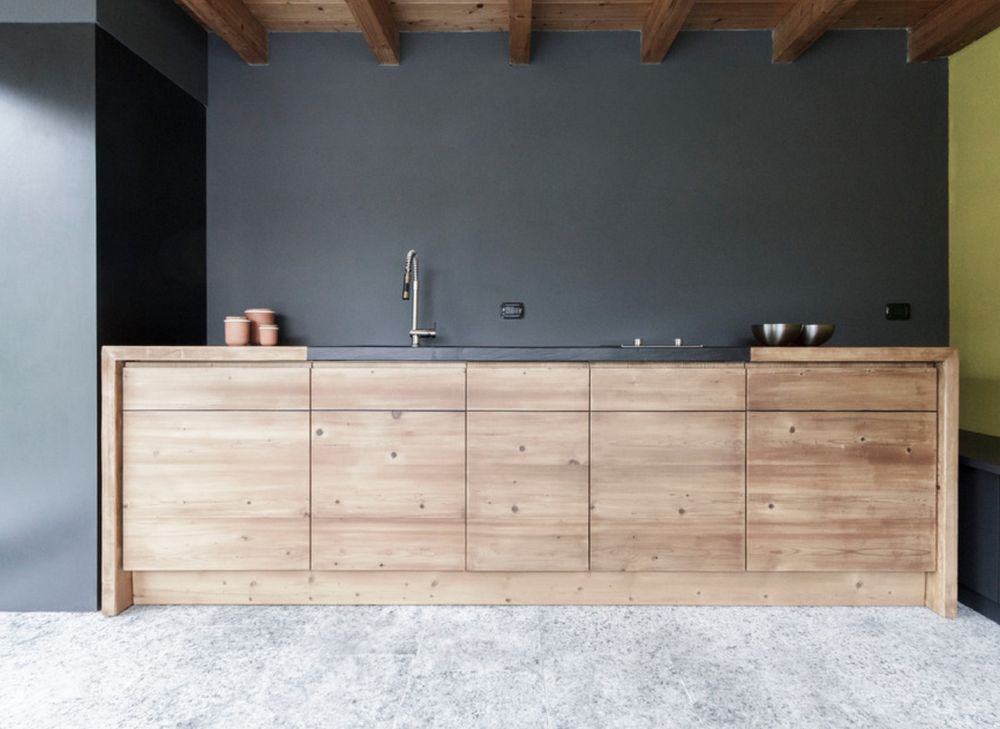 plancher de la cuisine