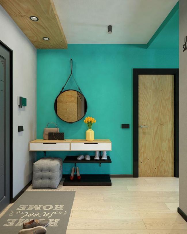 Couloir dans un style moderne pour ceux qui aiment expérimenter