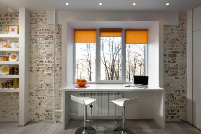 brique en studio de design d'intérieur