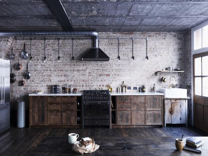 petite cuisine de style loft