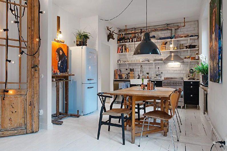 Conception d'appartements de studio de style scandinave