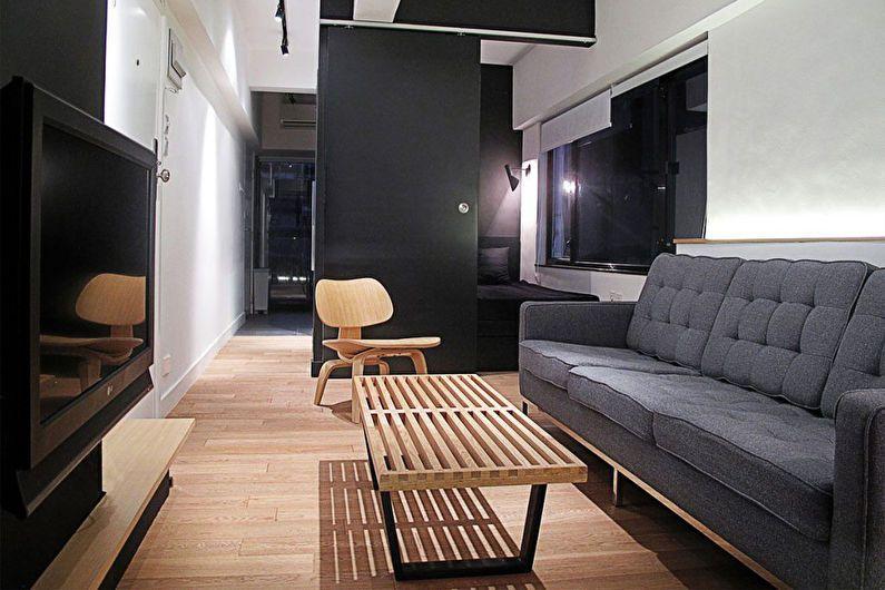 Conception d'un studio dans le style du minimalisme