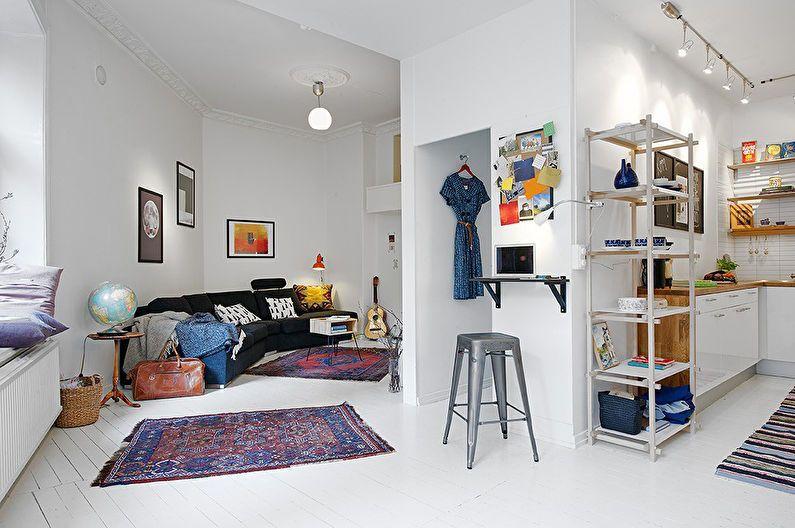 Conception d'appartements de studio - styles d'intérieur
