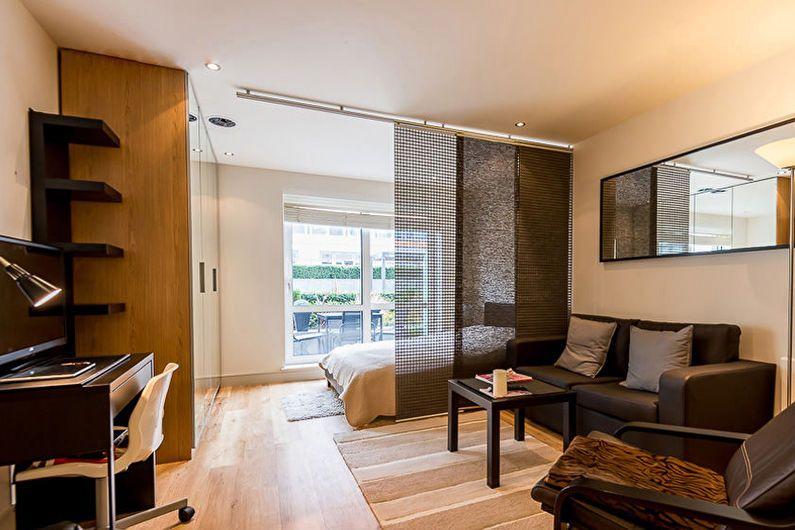 Conception d'un studio dans un style moderne