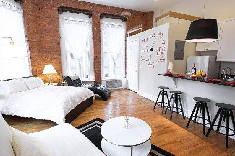 Conception d'appartement de studio de style loft