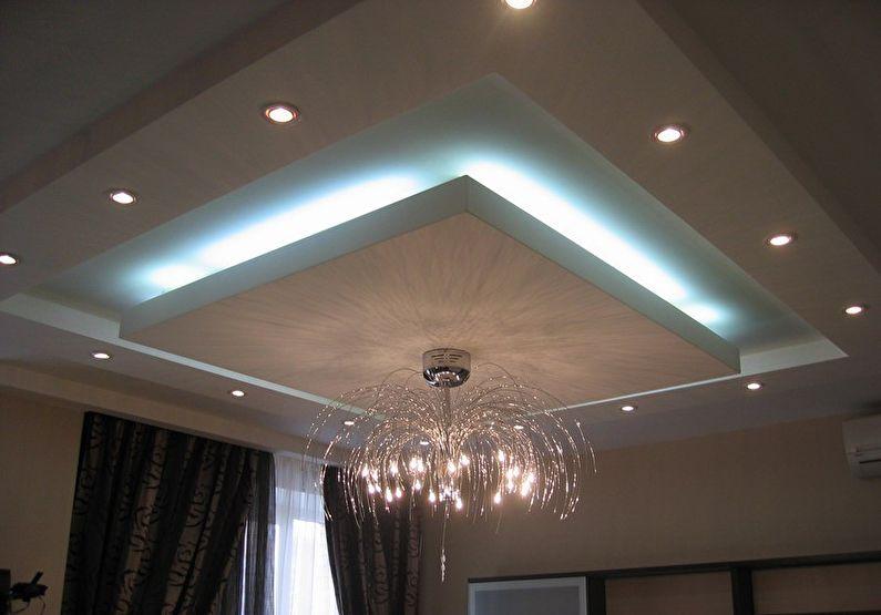 Plafonds en plaques de plâtre à plusieurs niveaux