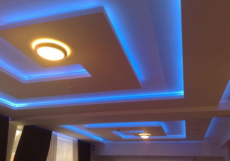 Éclairage de plafond en placoplâtre à LED