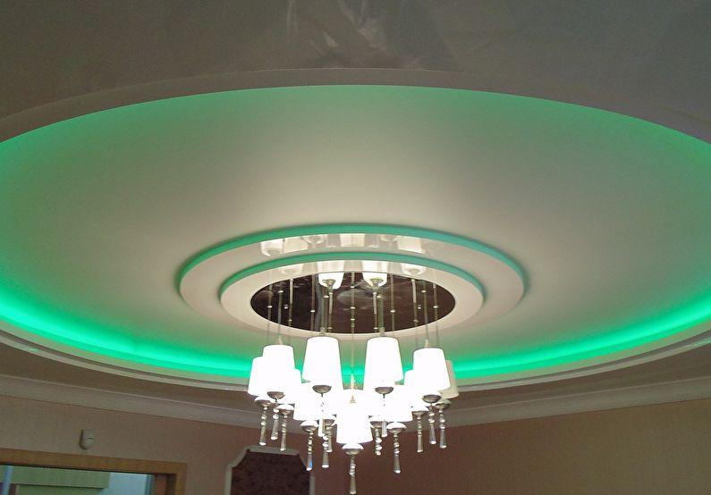 Lustres - plafond en plaques de plâtre