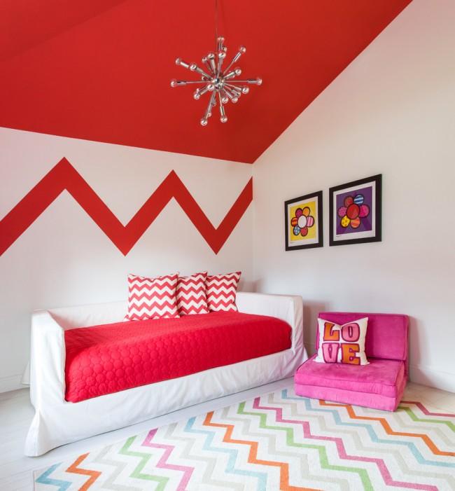 Plafond rouge vif