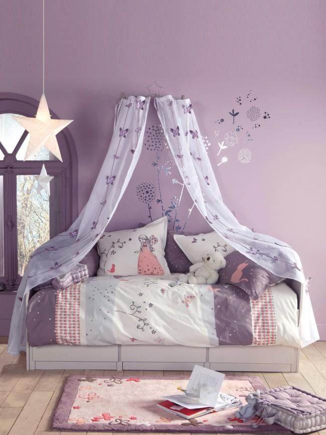 Délicate couleur violette, diluée avec des nuances blanches et roses