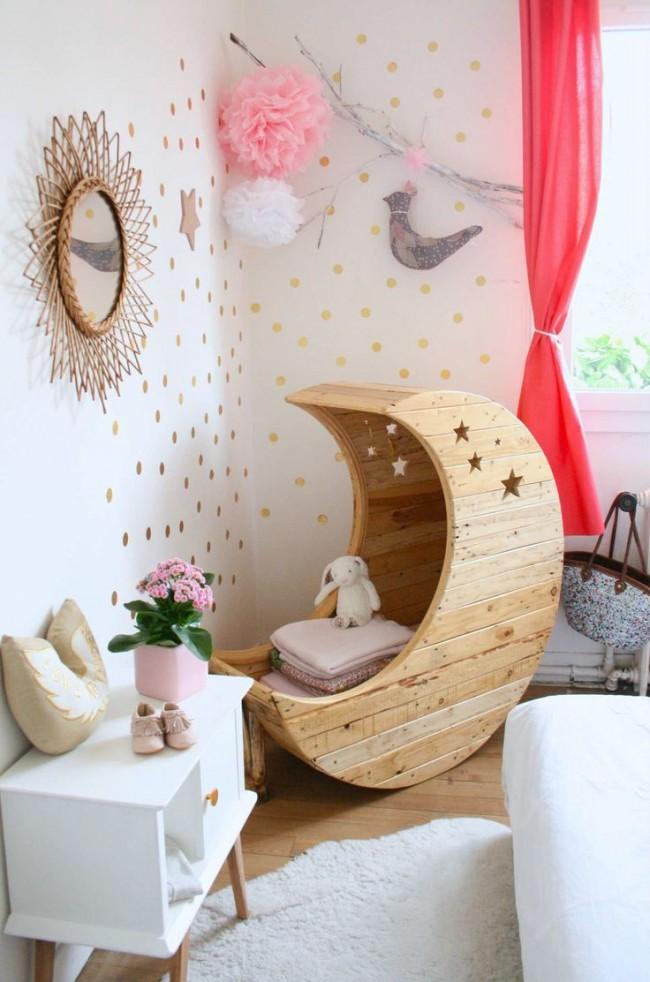 Mois et étoiles: fabuleuse décoration de la chambre de la petite princesse
