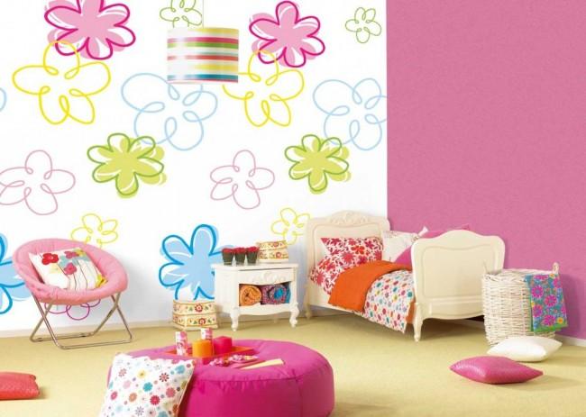 Les murs lisses peuvent même être peints avec votre enfant.