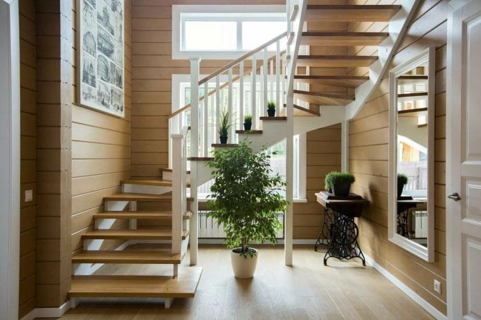 formes de volées d'escaliers à l'intérieur de la maison