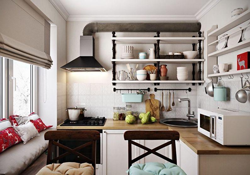 Design d'intérieur d'une petite cuisine