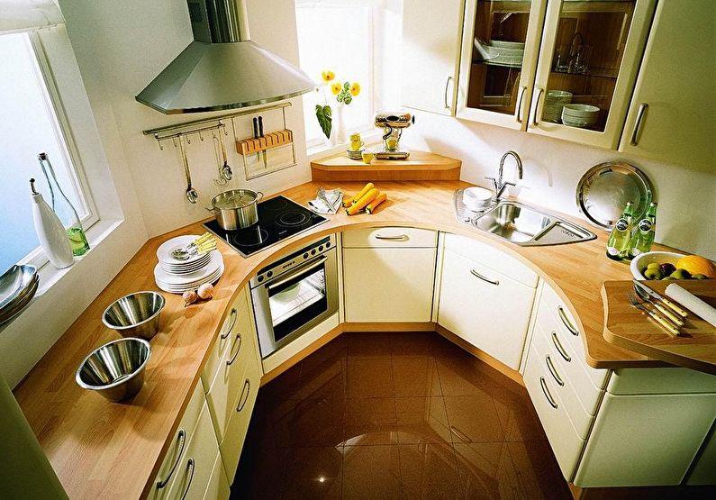 Petite cuisine de forme irrégulière - design d'intérieur