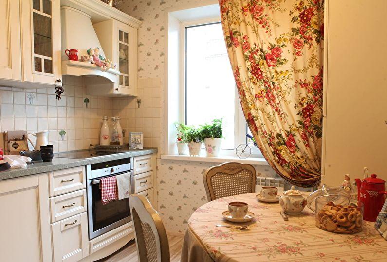 Petite cuisine de style provençal - design d'intérieur
