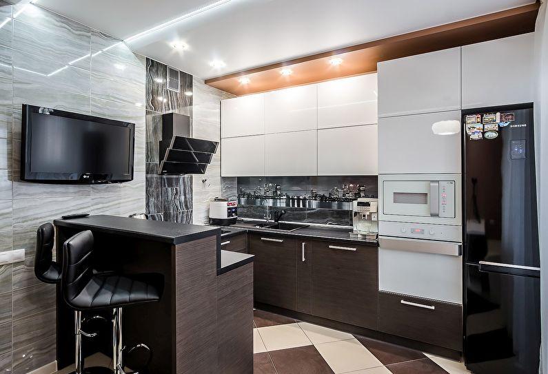 Petite cuisine high-tech - design d'intérieur