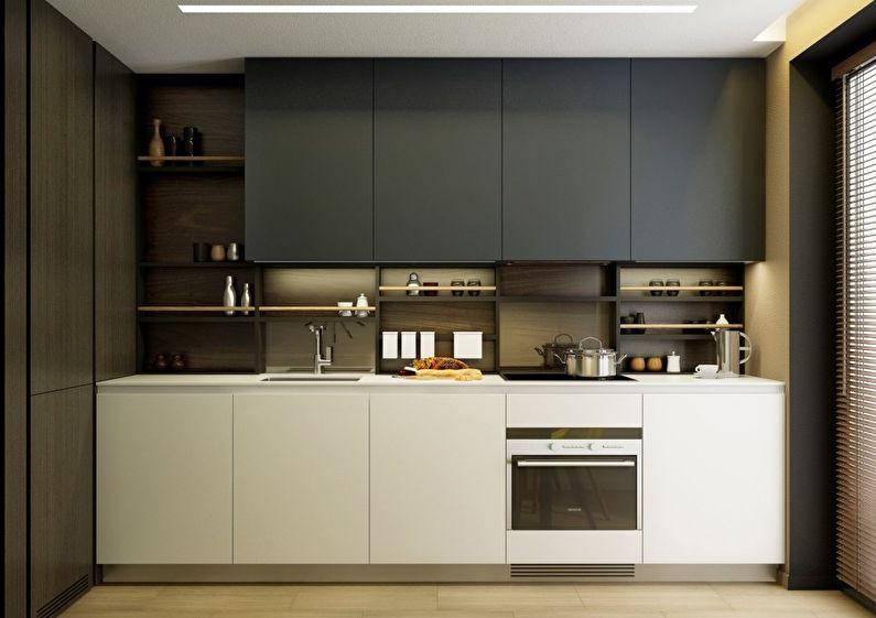 Petite cuisine dans le style du minimalisme - design d'intérieur