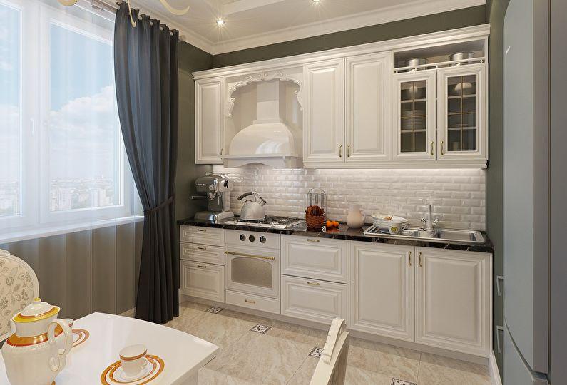 Petite cuisine de style classique - design d'intérieur
