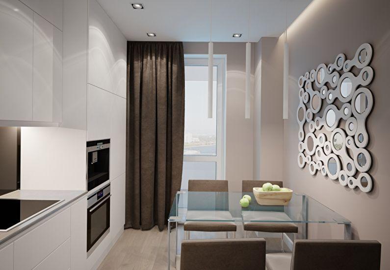 Petite cuisine dans un style moderne - design d'intérieur