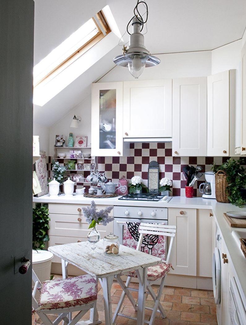 Petite cuisine de style campagnard - design d'intérieur