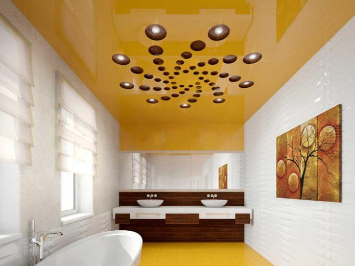 toile stretch jaune à l'intérieur