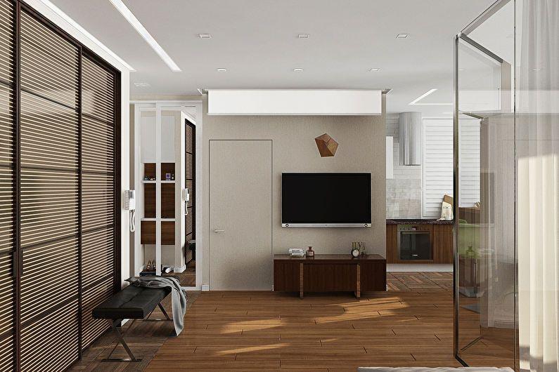 Conception d'un appartement d'une pièce pour une fille