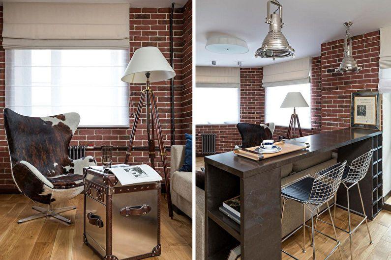 Conception d'un studio dans le style loft