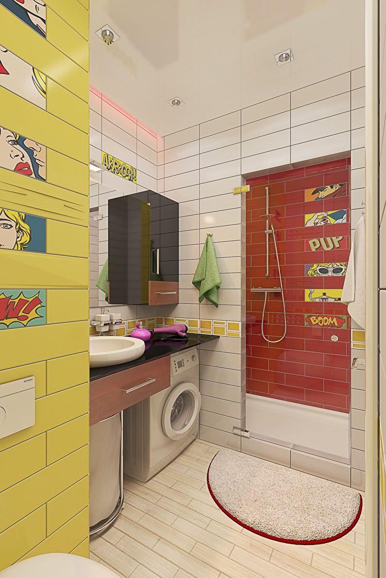 Conception d'appartement de studio de pop art