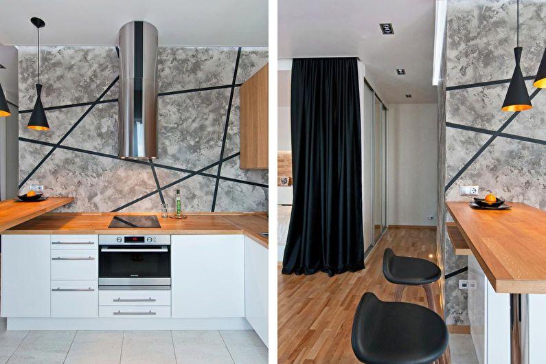 Conception d'un appartement d'une pièce pour une jeune famille
