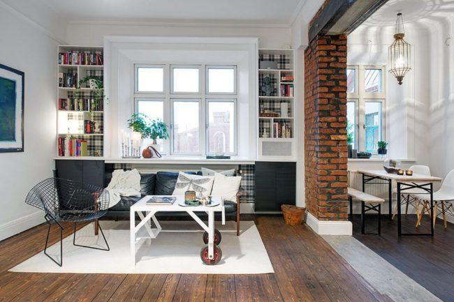 Projet de conception d'un appartement de style loft d'une pièce