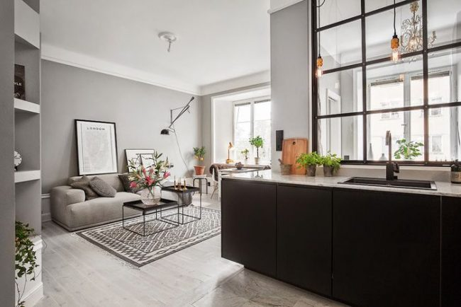 Studio de cuisine moderne et élégant