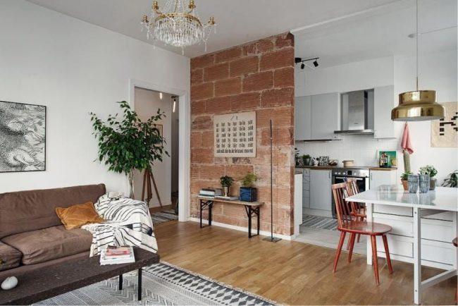 Appartement d'une chambre dans un style éclectique