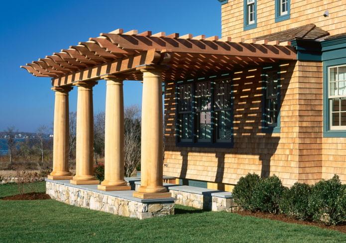 pergola avec colonnes