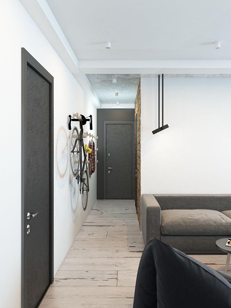 Conception d'un petit couloir dans le style loft