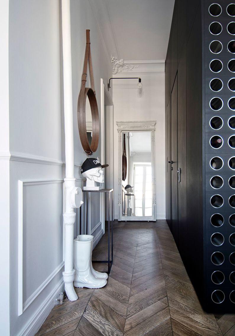 Conception de petit couloir de style scandinave