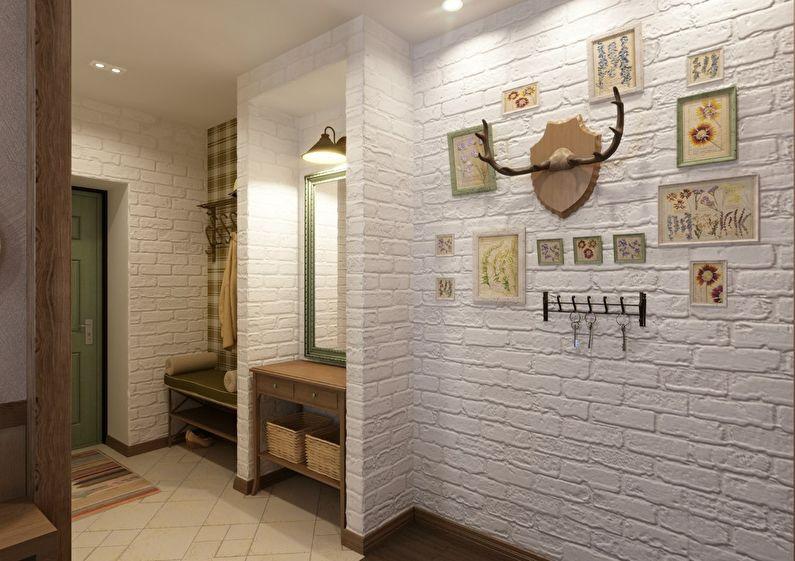 Conception d'un petit couloir de style provençal