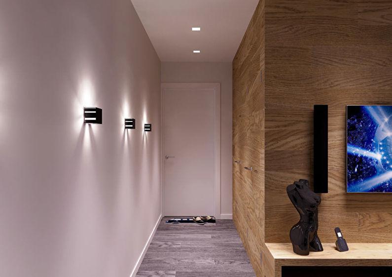 Conception d'un petit couloir dans un style moderne