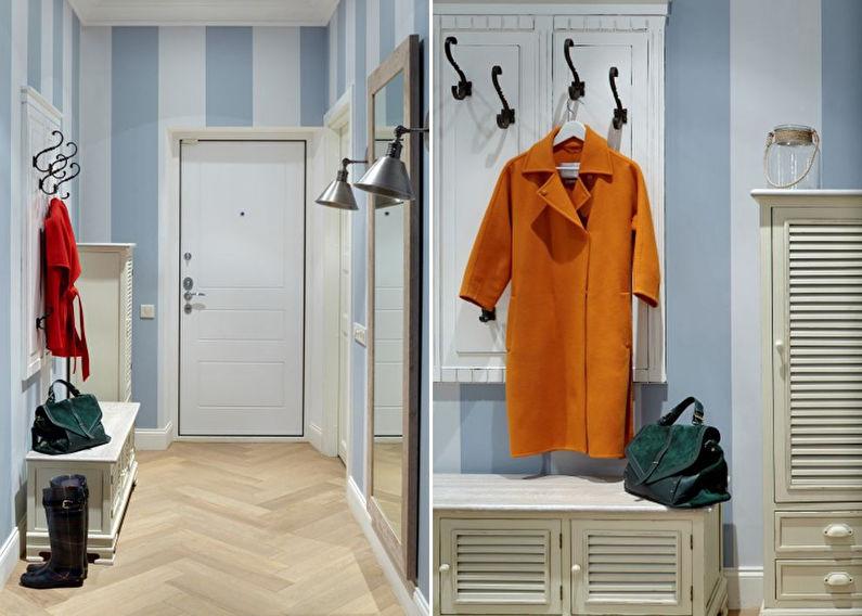 Petit couloir aux couleurs pastel - design d'intérieur