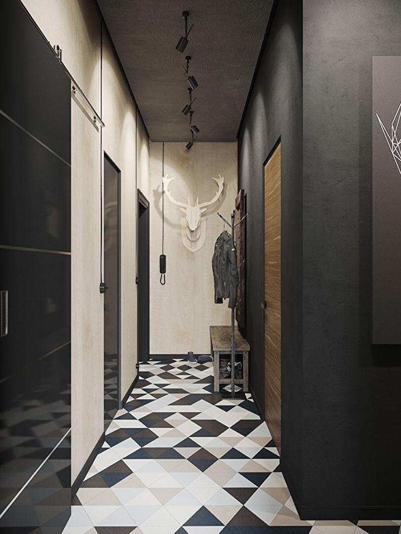 Plancher dans un petit couloir - conception