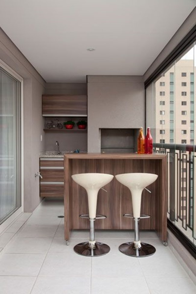 cuisine sur le balcon