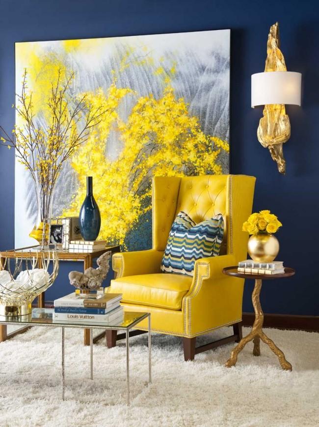 Salon au design laconique et lumineux