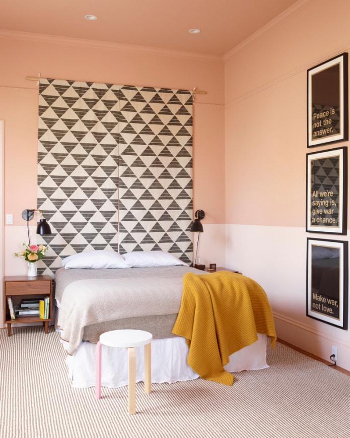 murs de pêche dans la chambre