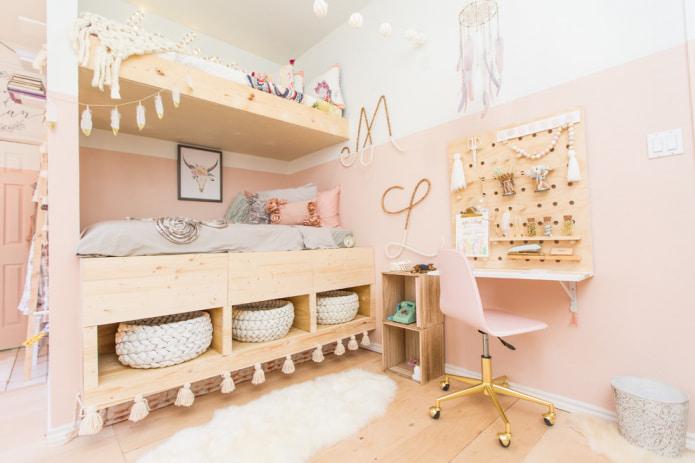 chambre d'enfant aux couleurs claires