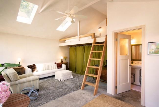 Un lit mezzanine est un excellent moyen d'optimiser l'espace