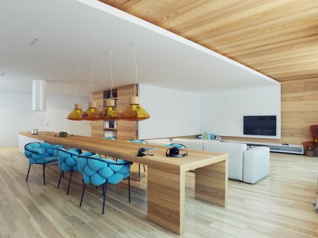 Zonage intéressant d'une pièce avec un plafond