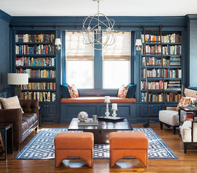 Il sera pratique de passer du temps à lire vos livres préférés sur un petit canapé sous la fenêtre.