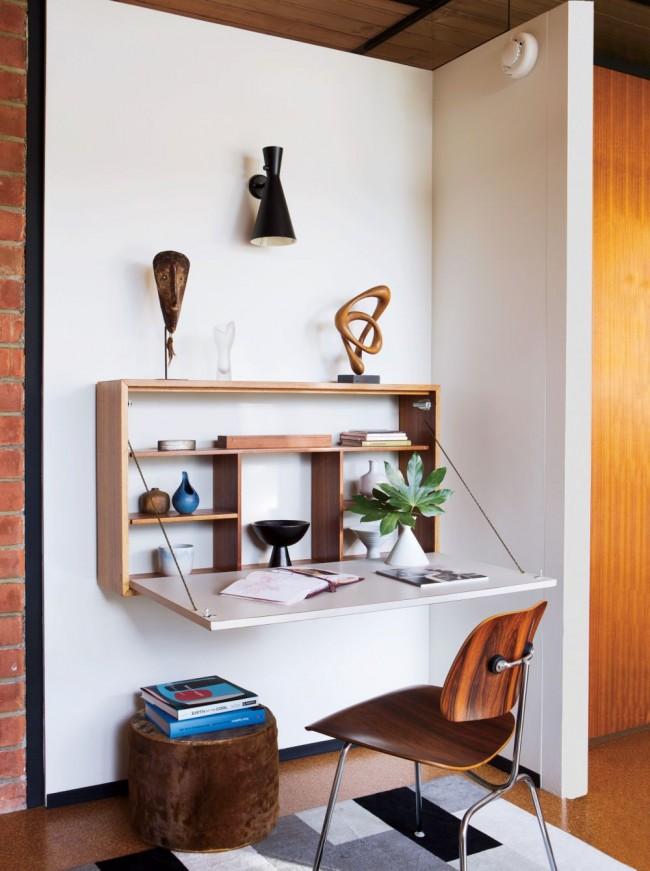 Un espace de travail avec plateau de table pliable s'intègre parfaitement dans votre design