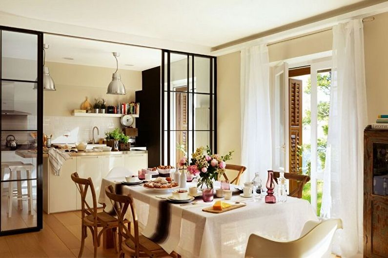 Zonage des pièces - Cuisine et salle à manger