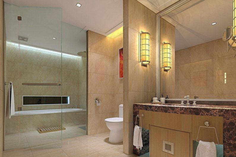 Zonage des chambres - Salle de bain et toilettes